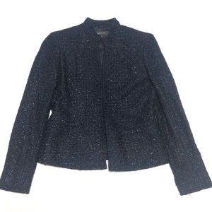 NWOT Jones New York Tweed Navy Blazer 2P